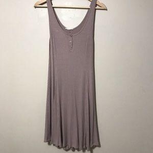 Lush Henley Tank Dress Dusty Rose